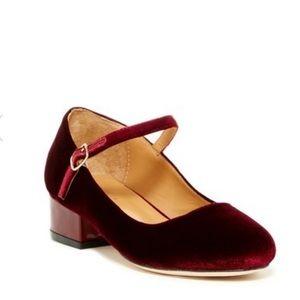Cecelia New York Dion Mary Jane Velvet Block heels